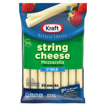 Kraft Reduced Fat 2% Milk Mozzarella String Cheese Sticks