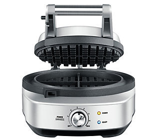 Breville the No Mess Waffle Maker-SILVER-One Size