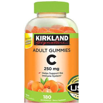 Kirkland Signature Adult Gummies Vitamin C 250 mg, 180 ct x 2 Bottles