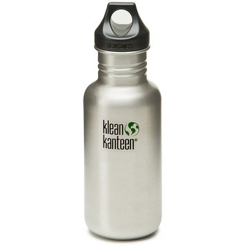 Klean Kanteen Classic 18 oz. Bottle with Loop Cap - Brushed Stainless