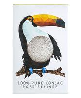 Konjac Sponge Co Konjac Mini Rainforest Pore Refiner 100% Pure Konjac - Toucan
