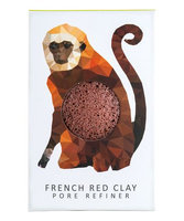 Konjac Sponge Co Konjac Mini Rainforest Pore Refiner French Red Clay - Monkey