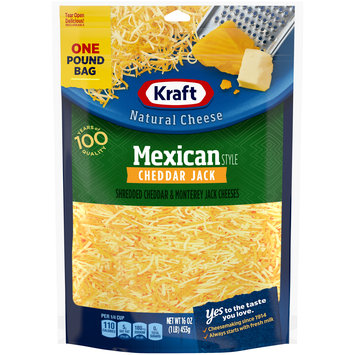 Kraft Mexican Style Cheddar Jack Finely Shredded Natural Cheese