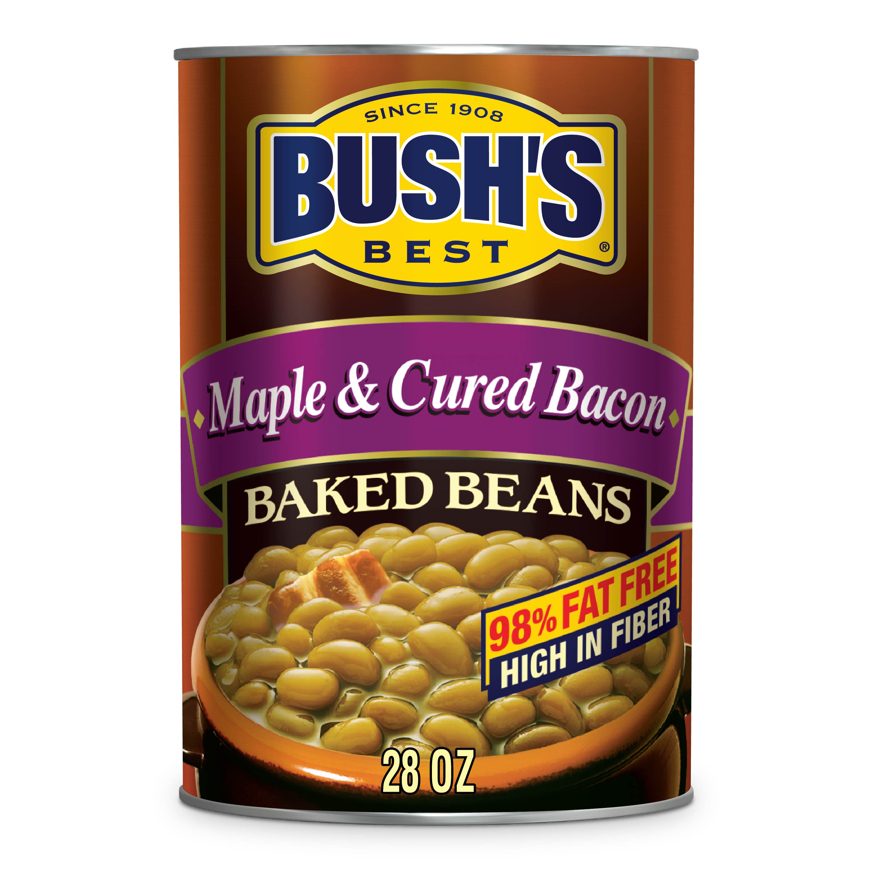 BUSH'S Maple & Cured Bacon Baked Beans 28 oz