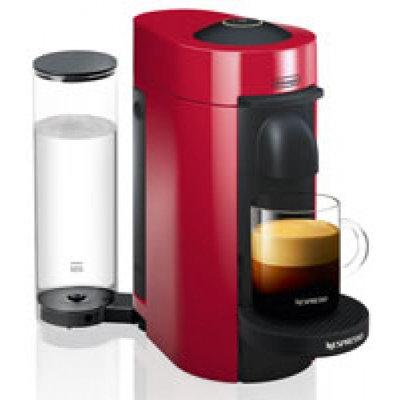 Nestle DELENV150R Nespresso VertuoPlus Coffee and Espresso Maker by De'Longhi, Red