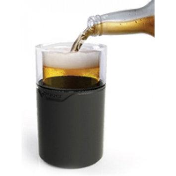 Metrokane RABBIT W6412 FREEZABLE BEER GLASSES, BLACK, SET OF 2