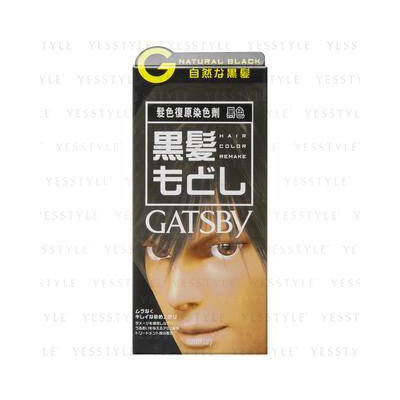 Mandom - Gatsby Hair Color (Natural Black) 1 set