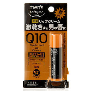 Kose - Softymo Q10 Medicated Lip Cream SPF 17 3.3g