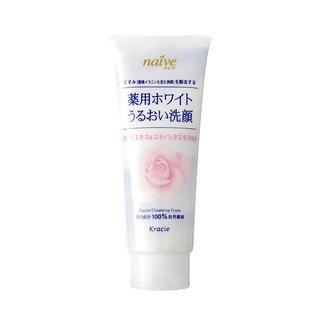 Kracie - Kracie Naive White Rose Hip Facial Cleansing Foam 150g