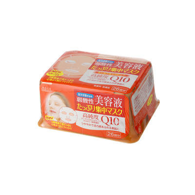 Kose - Clear Turn Q10 Essence Mask (Orange Box) 26 pcs