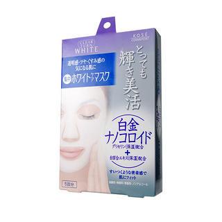 Kose - Clear Turn White Platinum Nano Colloid Mask (Purple) 5 pcs