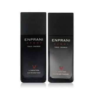 Enprani Homme V Perfection Set: Toner 125ml + Emulsion 125ml + Toner 40ml + Emulsion 40ml + Activator 10ml 5 pcs