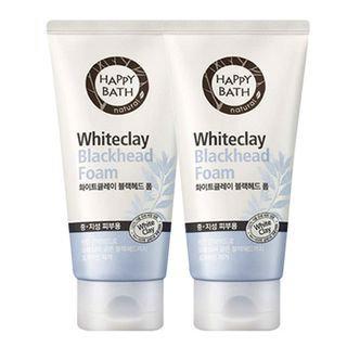 Happy Bath Whiteclay Blackhead Foam 2pcs