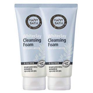 Happy Bath Whiteclay Cleansing Foam 2pcs