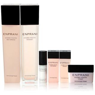 Enprani Hydro Youth Set: Skin Softener 160ml + Emulsion 120ml + Skin Softener 25ml + Emulsion 25ml + Youth Cell Activator 5ml + Cream 10ml 6pcs