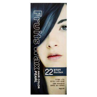 Kwailnara Fruits Wax Hair Color Pearl Blue Black - No. 22