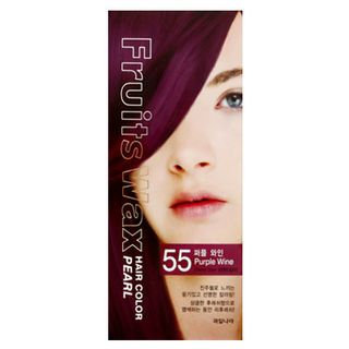 Kwailnara Fruits Wax Hair Color Pearl Purple Wine - No. 55
