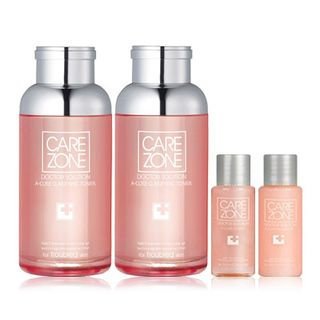 Carezone Doctor Solution A-Cure Set: Toner 170ml + Emulsion 170ml + Toner 25ml + Emulsion 25ml 4pcs