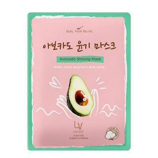 Lacvert LV Real Food Recipe Sheet Mask Avocado Shining Mask