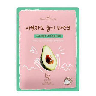 Lacvert LV Real Food Recipe Sheet Mask Avocado Shining Mask