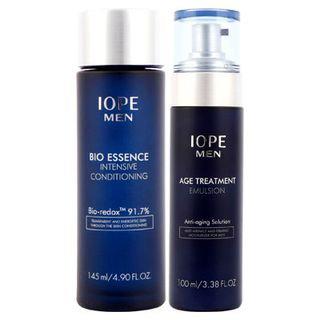 Iope Men Bio Set: Essence Intensive Conditioning 145ml + Age Treatment Emulsion 100ml 2pcs