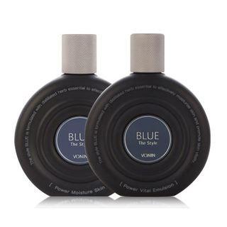 Vonin Blue Power Set: Moisture Skin 150ml + Vital Emulsion 150ml + Moisture Skin 35ml + Vital Emulsion 35ml + Essence 17ml + Formula 5ml + Eye Lift 6ml 7pcs