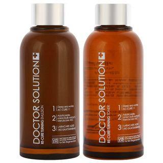 Carezone Doctor Solution Re-Cure Set: Toner 150ml + 25ml + Emulsion 150ml + 25ml + Essence 5ml + Cream 10ml 6pcs