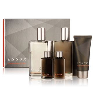 The Flower Men Essor Set: Skin 140ml(+35ml) + Lotion 140ml(+35ml) + Cleansing Foam 50ml 5pcs