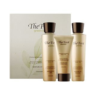 Kwailnara The First Greentea Moisture Hyo Set: Skin 150ml + Emulsion 150ml + Sleeping Pack 50ml