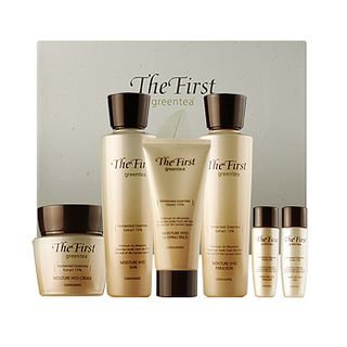 Kwailnara The First Greentea Moisture Hyo Set: Skin 150ml + 30ml + Emulsion 150ml + 30ml + Cream 50ml + Sleeping Pack 50ml