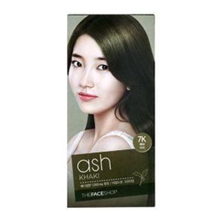 The Face Shop Stylist Silky Hair Color Cream (#7K Ash Khaki) 130ml No. 7K - Ash Khaki