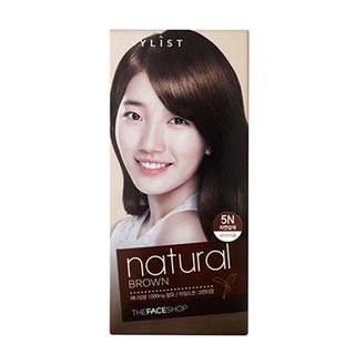 The Face Shop Stylist Silky Hair Color Cream (#5N Natural Brown) 130ml No. 5N - Natural Brown