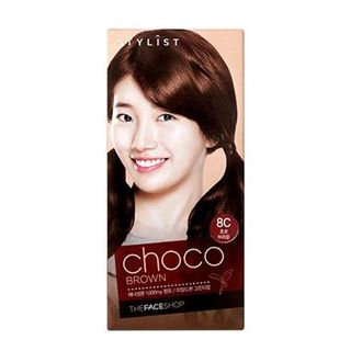 The Face Shop Stylist Silky Hair Color Cream (#8C Choco Brown) 130ml
