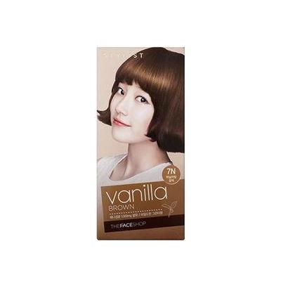 The Face Shop Stylist Silky Hair Color Cream (#7N Vanilla Brown) 130ml