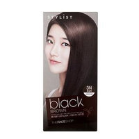 The Face Shop Stylist Silky Hair Color Cream (#3N Black Brown) 130ml