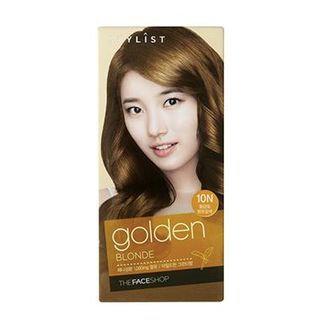 The Face Shop Stylist Silky Hair Color Cream (#10N Golden Blonde) 130ml