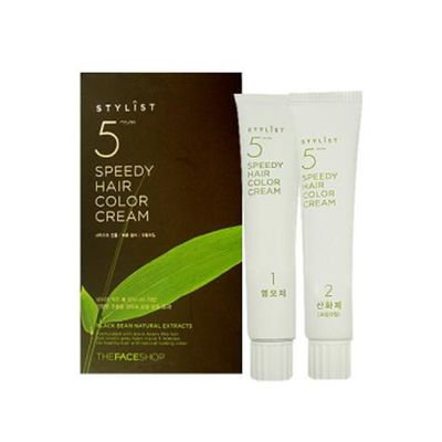 The Face Shop Stylist Speedy Hair Color Cream (Natural Brown)