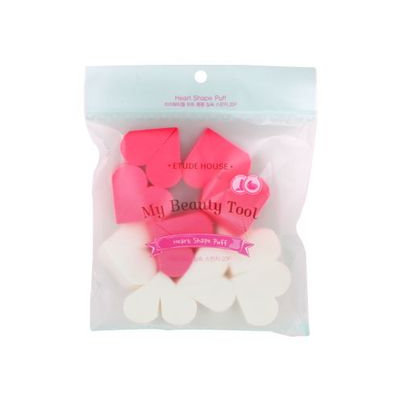 Etude House - My Beauty Tool Heart-Shaped Sponge 1 set (10 pcs)