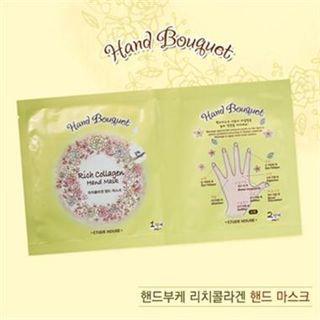 Etude House - Hand Bouquet Rich Collagen Hand Mask (P) 5 sets