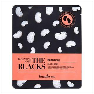 Banila Co. The Blacks Essential Mask - Black Bean 1sheet