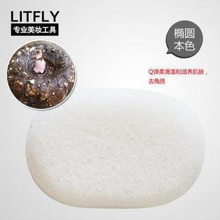 Litfly Natural Konjac Sponge (Oval) (Original) 1 pc