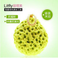 Litfly Bathing Sponge (Green Tea) 1 pc