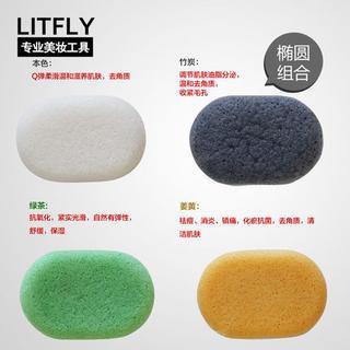 Litfly Natural Konjac Sponge (Oval) (4 pcs) 4 pcs