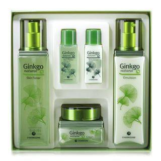 Charm Zone Ginkgo Natural Skin Toner 150ml + Emulsion 150ml + Cream 70ml 3pcs