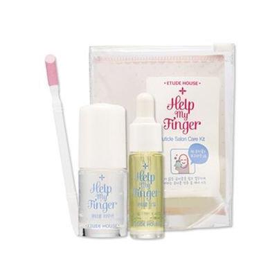 Etude House Help My Finger Cuticle Salon Care Kit: Cuticle remover 8ml + Oil 3.5ml + Pusher 1pc 3pcs