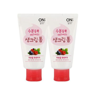 On: The Body Berry Essence Cream Foam (120g+120g) 120g+120g