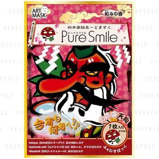 Pure Smile - Japanese Old Tale Art Mask (Easy Going Long-Nosed Goblin) 5 pcs
