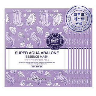 Tosowoong Super Aqua Abalone Essence Mask 10pc 10sheets