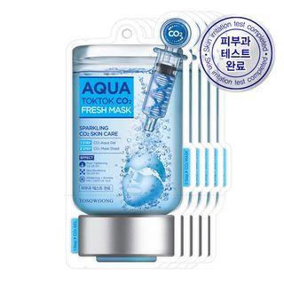 Tosowoong Aqua Tok Tok CO2 Mask 5pc 5sheets