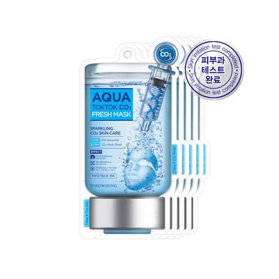 Tosowoong Aqua Tok Tok CO2 Mask 5pc 5sheets